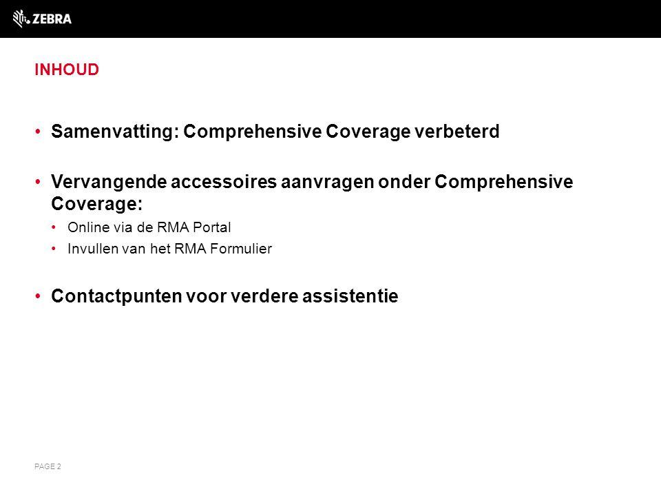 Samenvatting: Comprehensive Coverage verbeterd