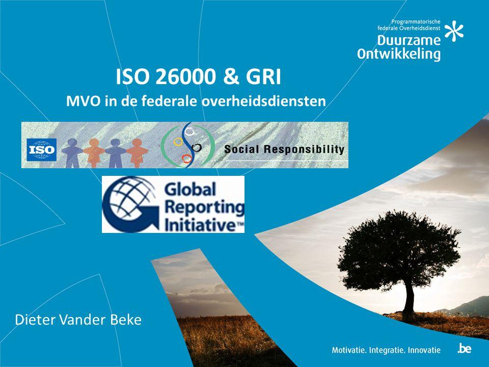 ISO 26000 & GRI MVO in de federale overheidsdiensten