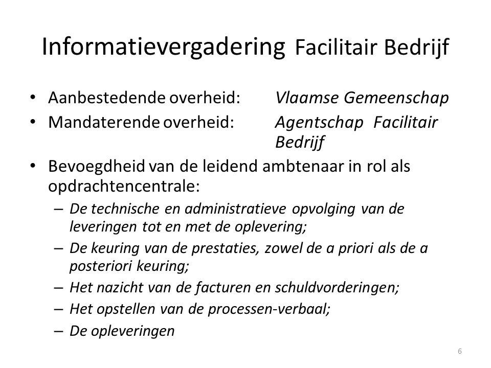 Informatievergadering Facilitair Bedrijf