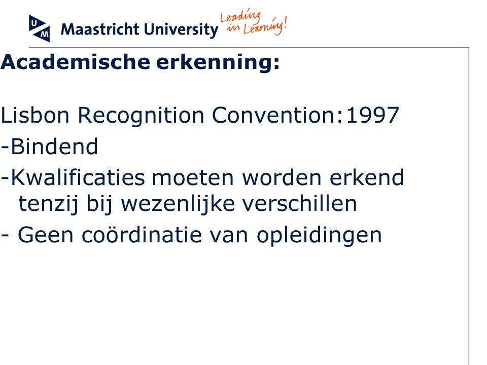 Academische erkenning: