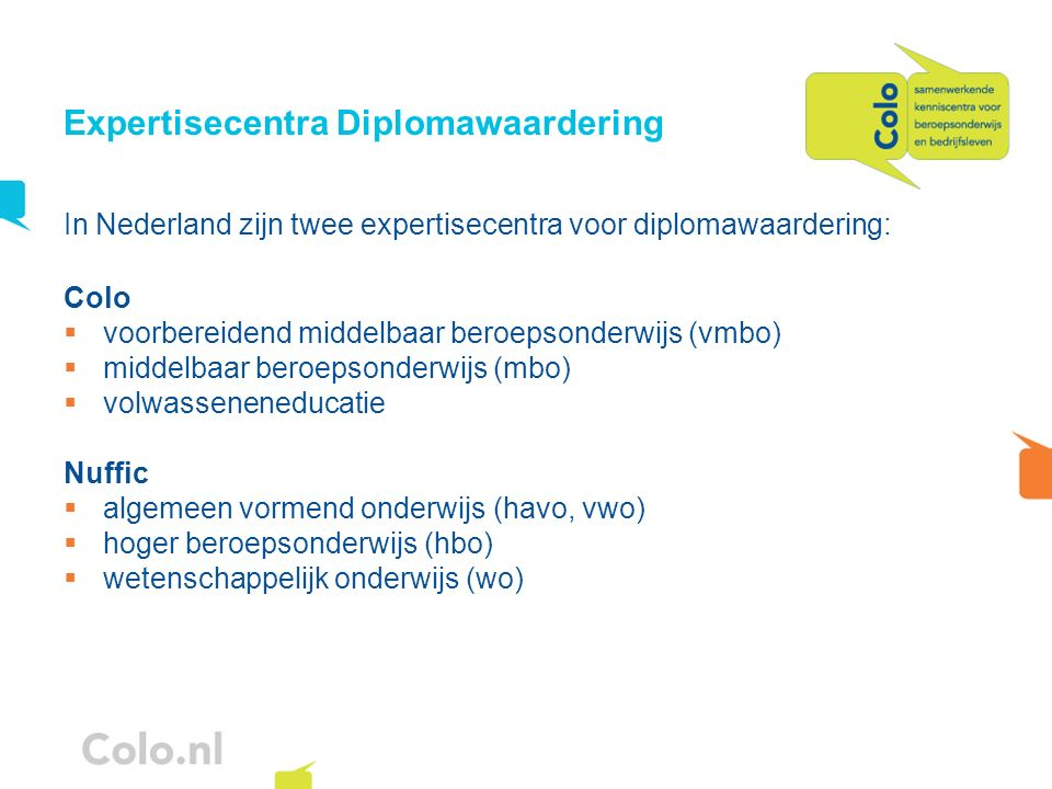 Expertisecentra Diplomawaardering