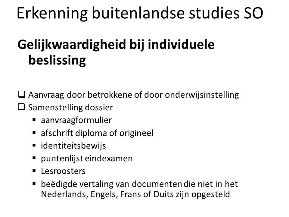 Erkenning buitenlandse studies SO