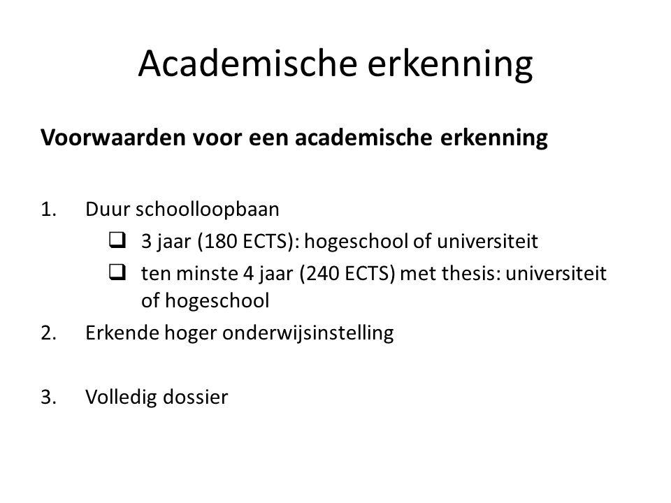 Academische erkenning