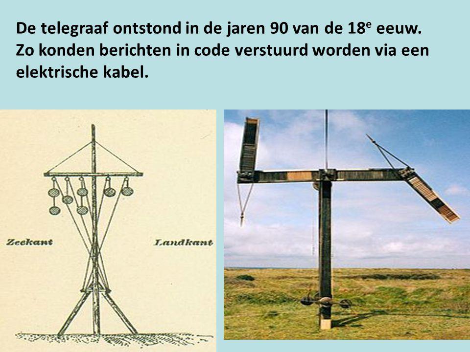De telegraaf ontstond in de jaren 90 van de 18e eeuw.