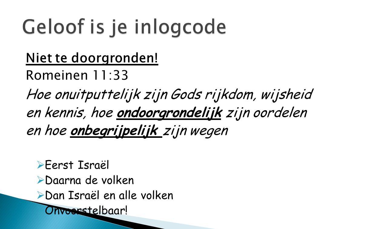 Geloof is je inlogcode Hoe onuitputtelijk zijn Gods rijkdom, wijsheid