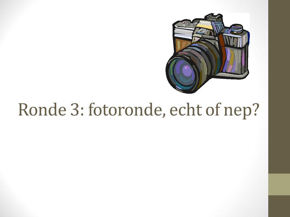 Ronde 3: fotoronde, echt of nep