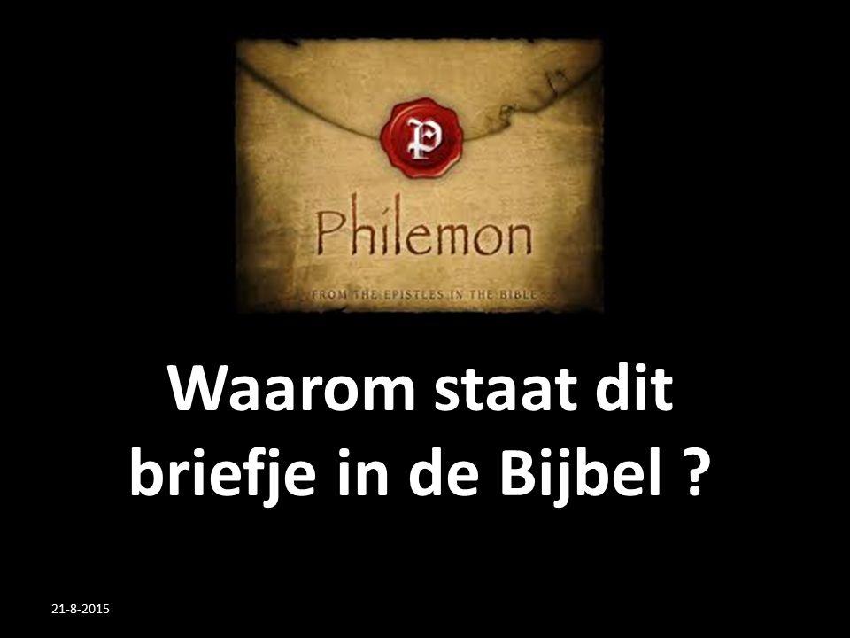 Waarom staat dit briefje in de Bijbel