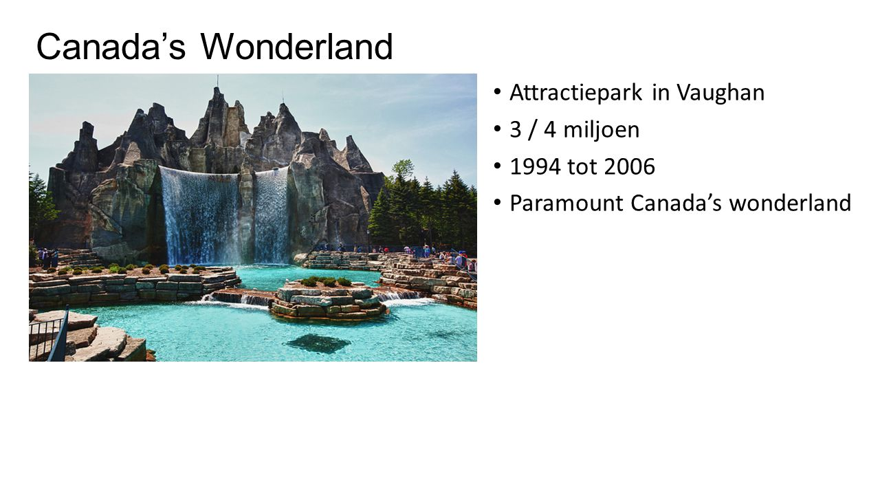 Canada's Wonderland Attractiepark in Vaughan 3 / 4 miljoen