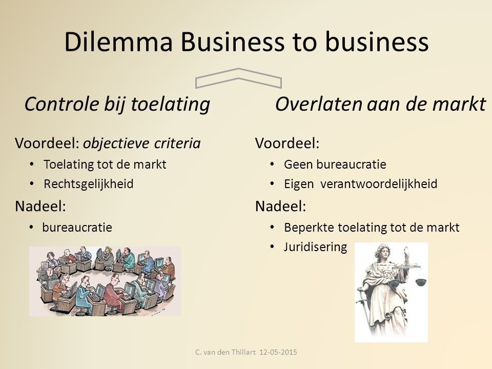 Dilemma Business to business