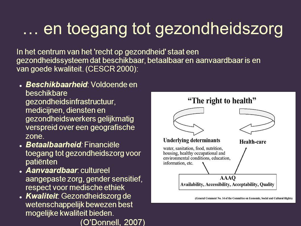 … en toegang tot gezondheidszorg