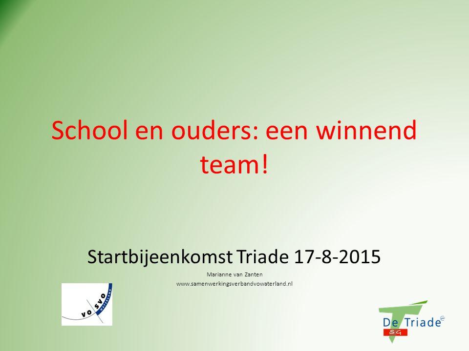School en ouders: een winnend team!