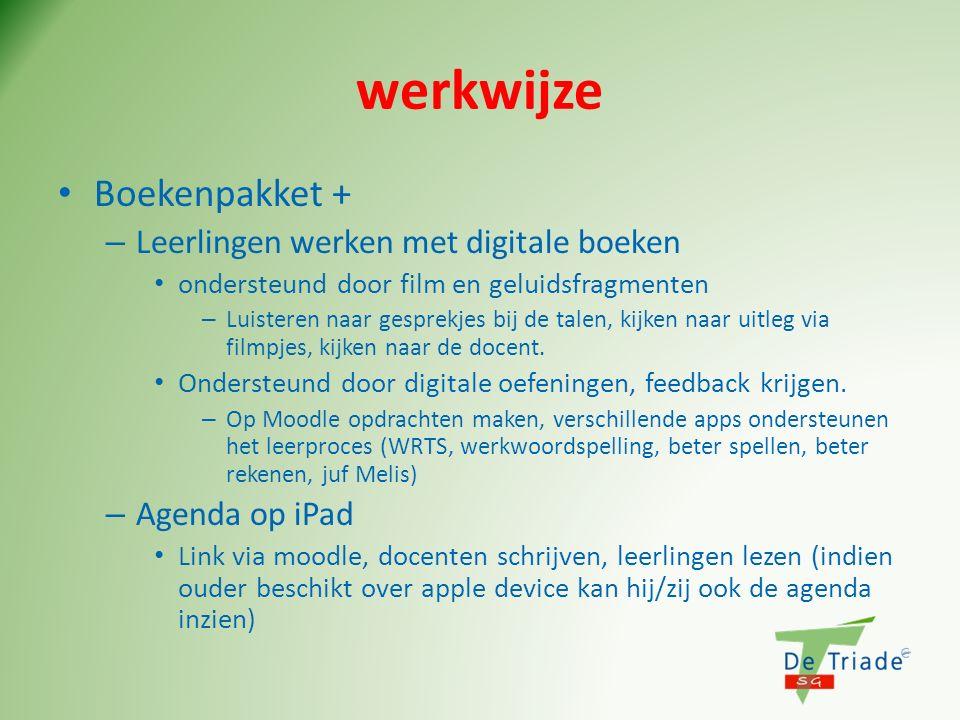 werkwijze Boekenpakket + Leerlingen werken met digitale boeken