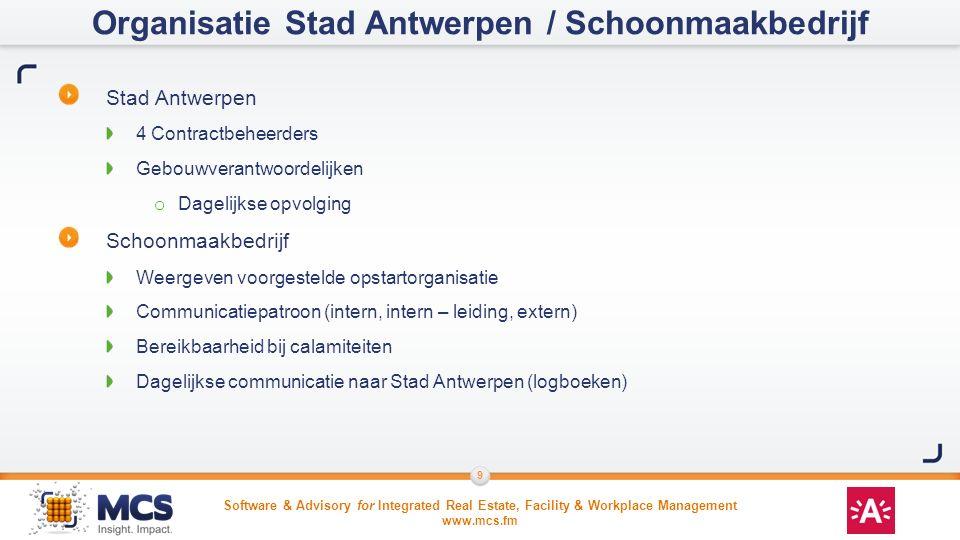 Organisatie Stad Antwerpen / Schoonmaakbedrijf