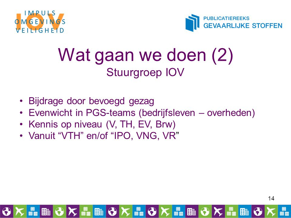 Wat gaan we doen (2) Stuurgroep IOV