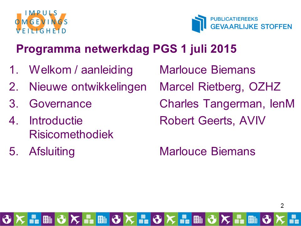 Programma netwerkdag PGS 1 juli 2015