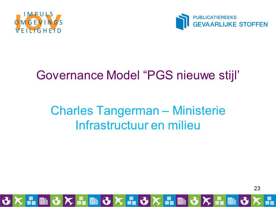 Governance Model PGS nieuwe stijl' Charles Tangerman – Ministerie Infrastructuur en milieu