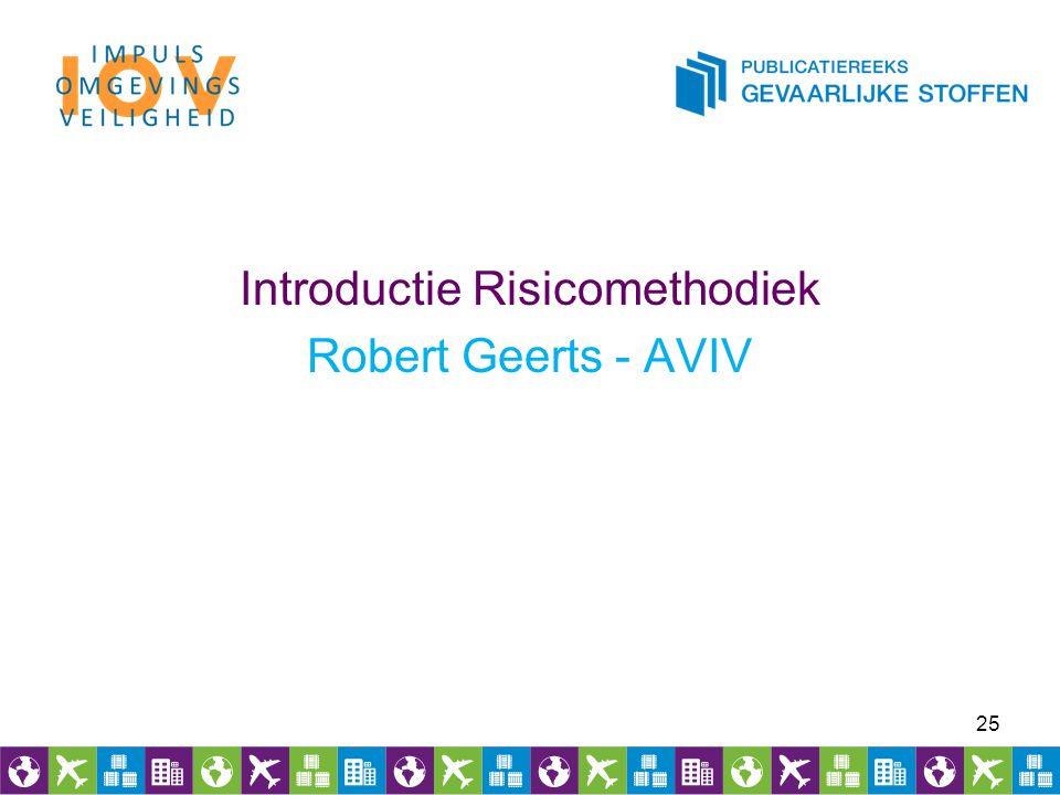 Introductie Risicomethodiek Robert Geerts - AVIV