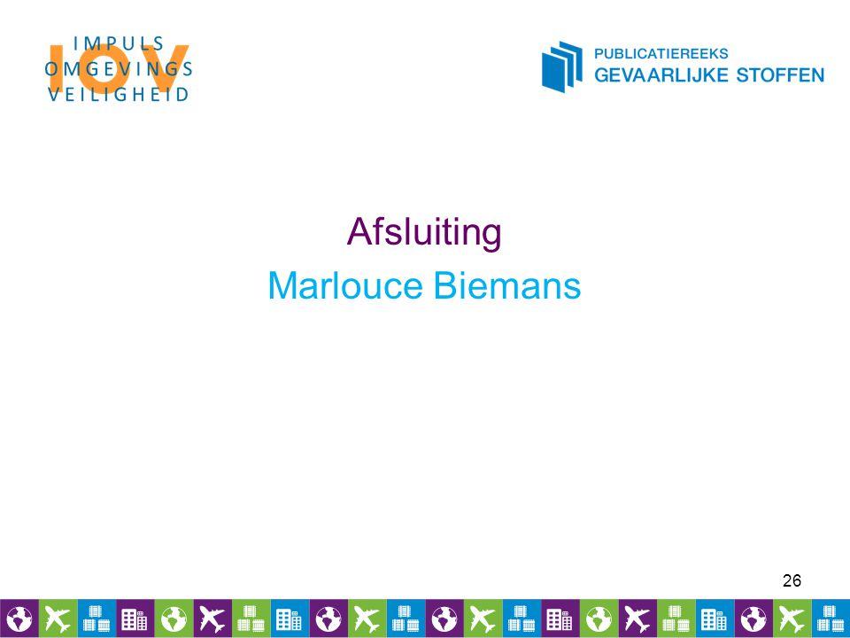 Afsluiting Marlouce Biemans