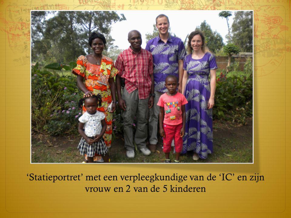 'Statieportret' met een verpleegkundige van de 'IC' en zijn vrouw en 2 van de 5 kinderen