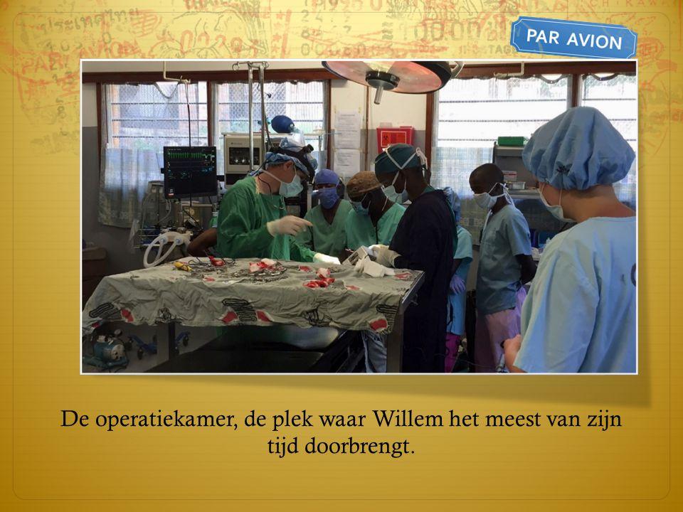 De operatiekamer, de plek waar Willem het meest van zijn tijd doorbrengt.