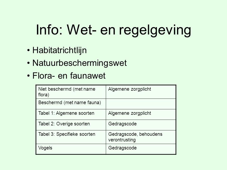 Info: Wet- en regelgeving
