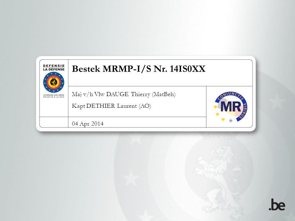 Bestek MRMP-I/S Nr. 14IS0XX