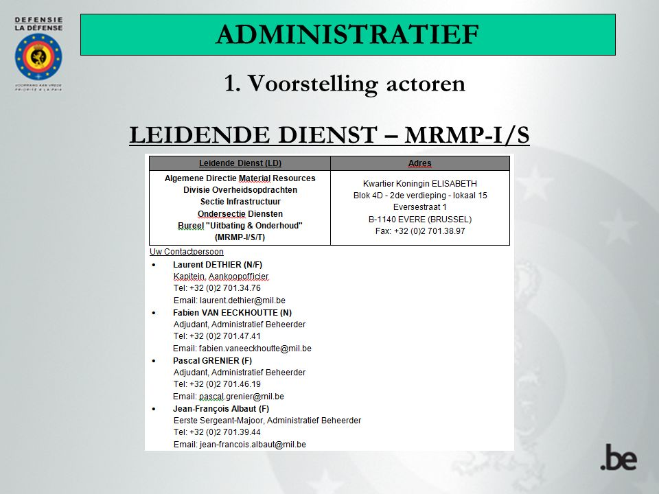 LEIDENDE DIENST – MRMP-I/S