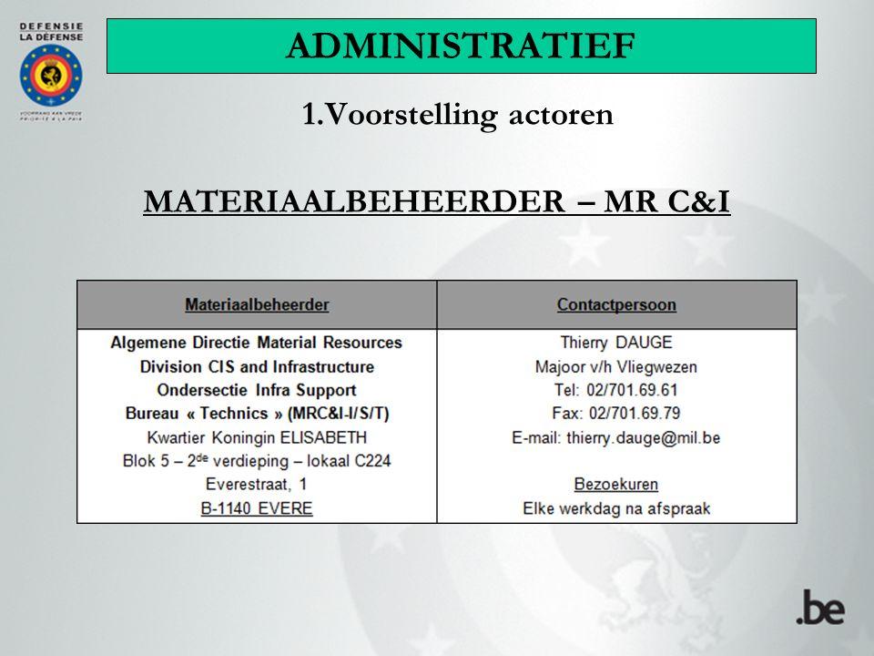 MATERIAALBEHEERDER – MR C&I