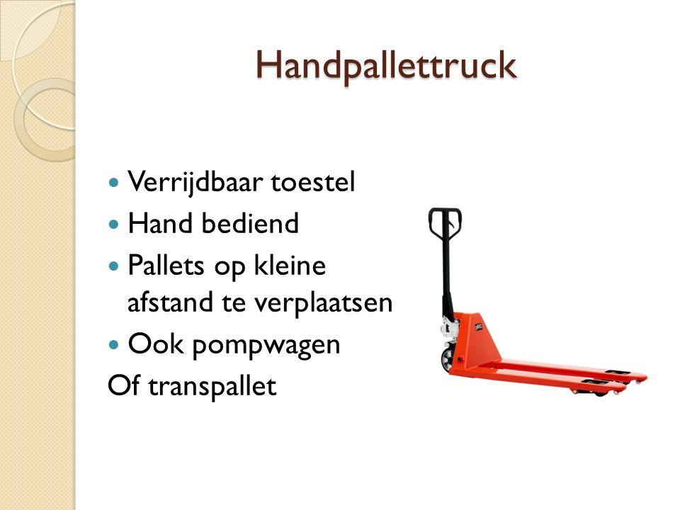 Handpallettruck Verrijdbaar toestel Hand bediend