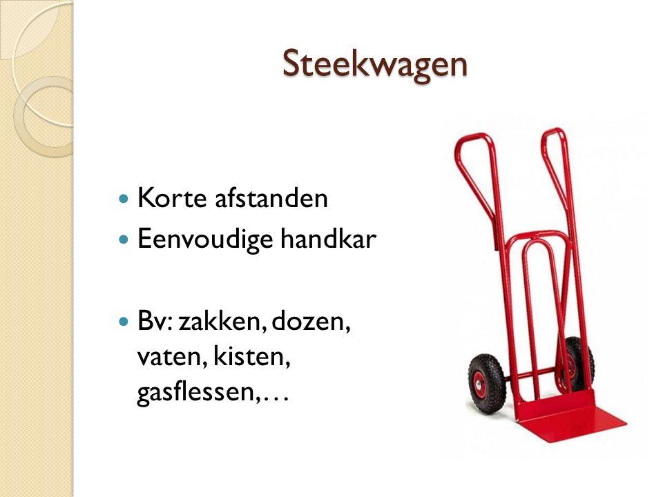 Steekwagen Korte afstanden Eenvoudige handkar