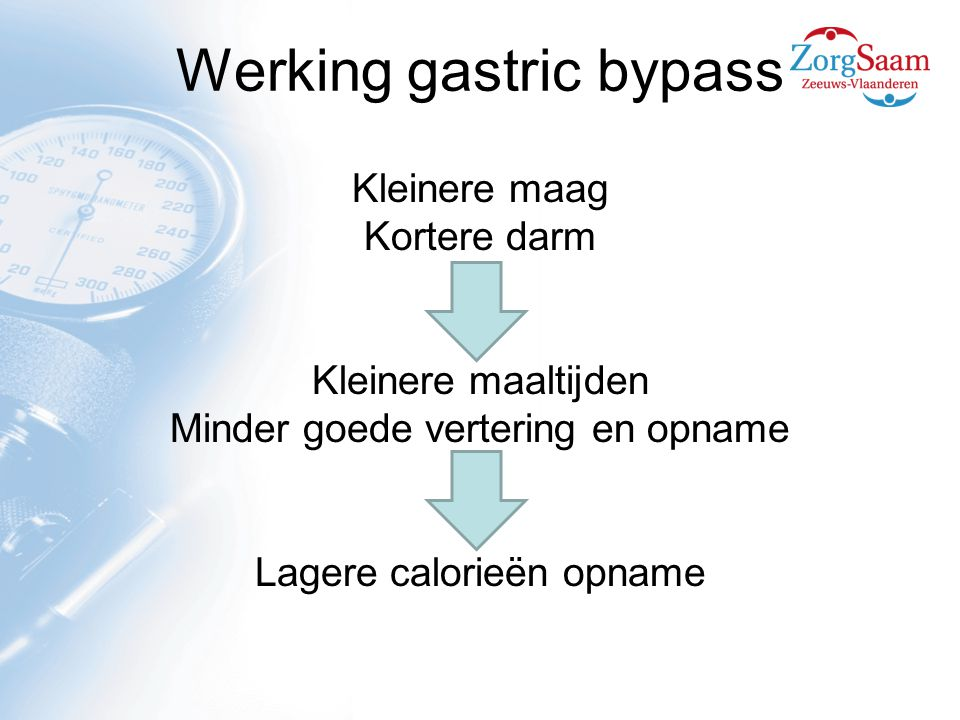 Werking gastric bypass