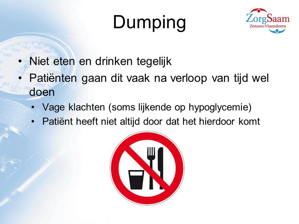 Dumping Niet eten en drinken tegelijk
