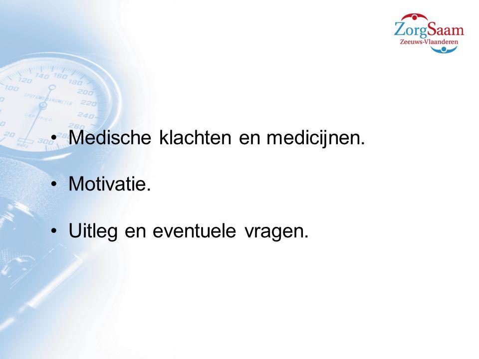Medische klachten en medicijnen.