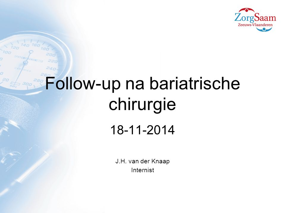 Follow-up na bariatrische chirurgie