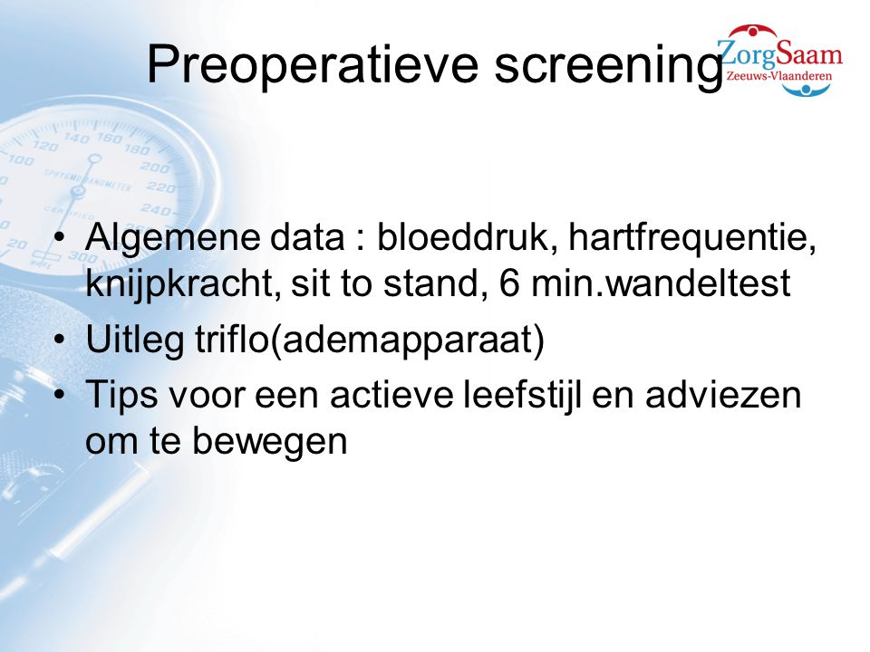 Preoperatieve screening