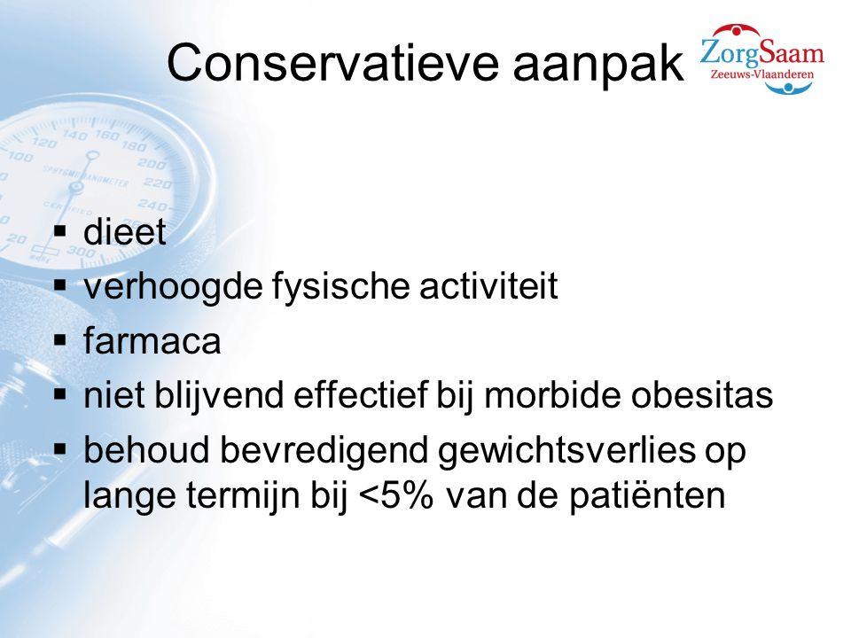 Conservatieve aanpak dieet verhoogde fysische activiteit farmaca