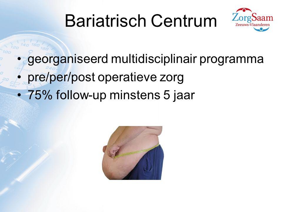 Bariatrisch Centrum georganiseerd multidisciplinair programma