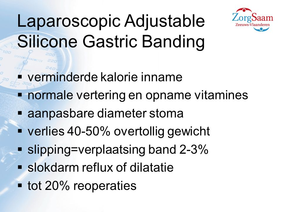 Laparoscopic Adjustable Silicone Gastric Banding