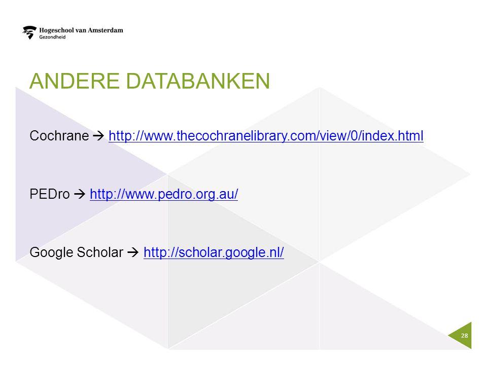 Andere databanken