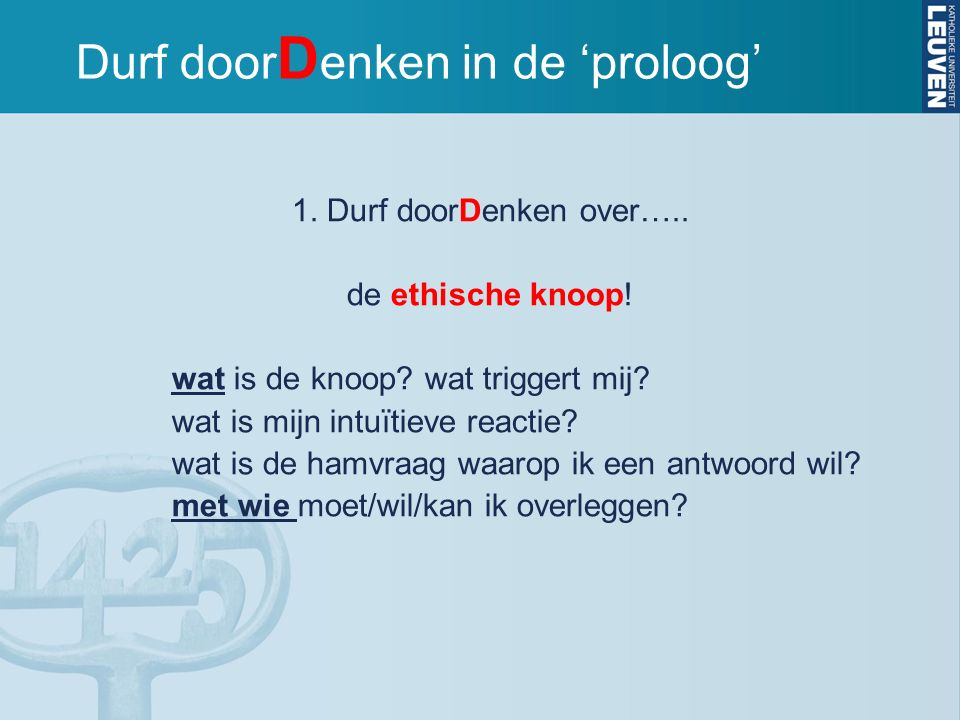 Durf doorDenken in de 'proloog'