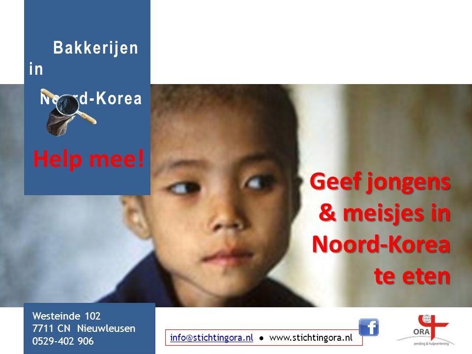 Geef jongens & meisjes in Noord-Korea te eten