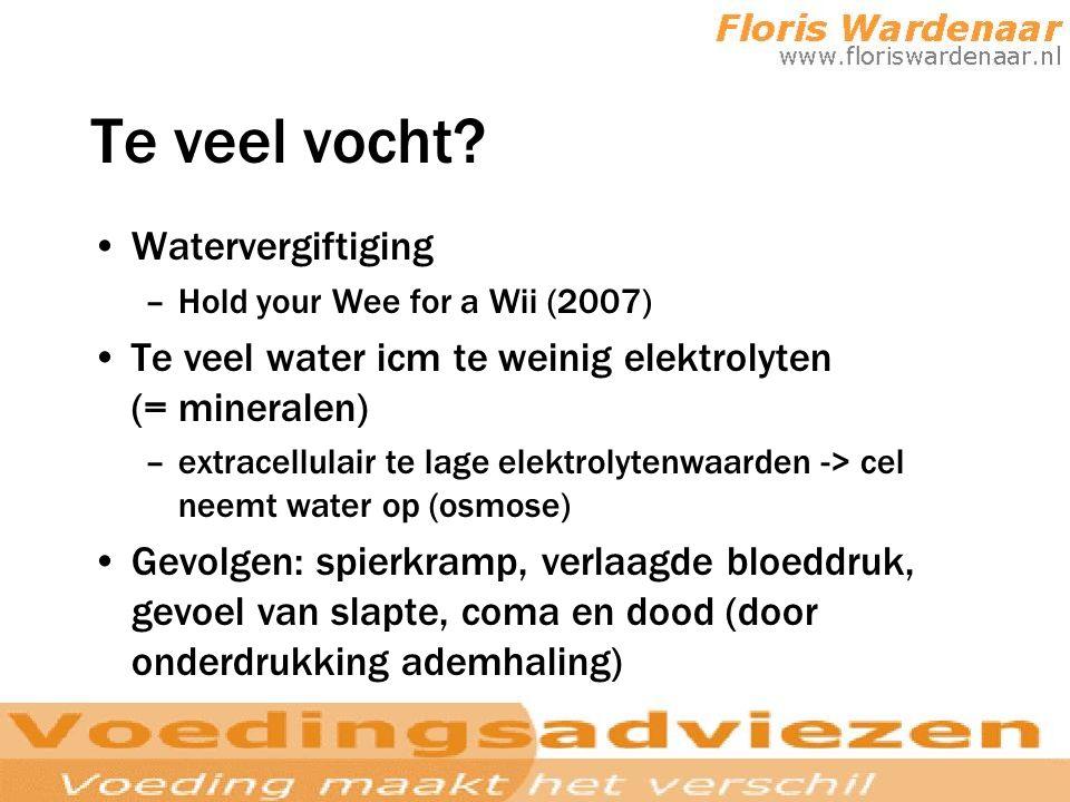 Te veel vocht Watervergiftiging