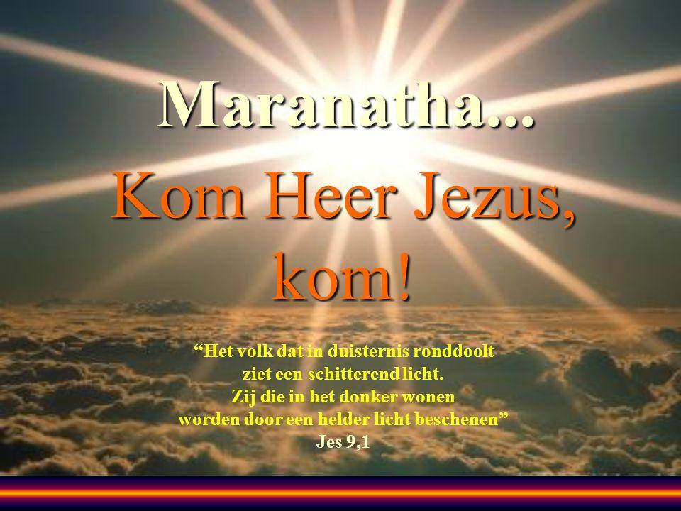 Maranatha... Kom Heer Jezus, kom!