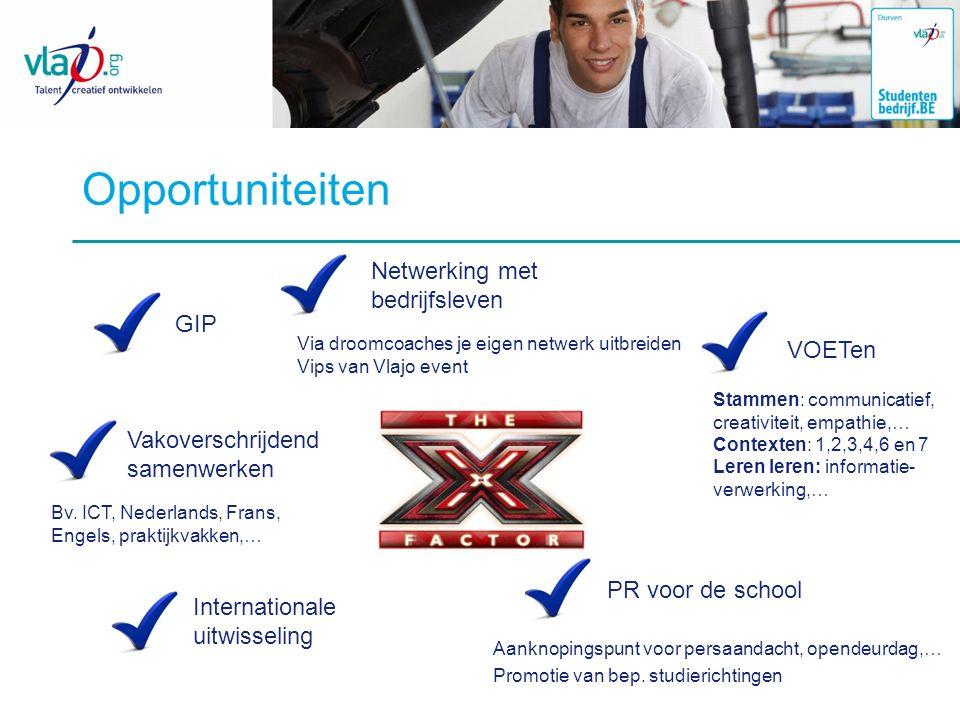 Opportuniteiten Netwerking met bedrijfsleven GIP VOETen