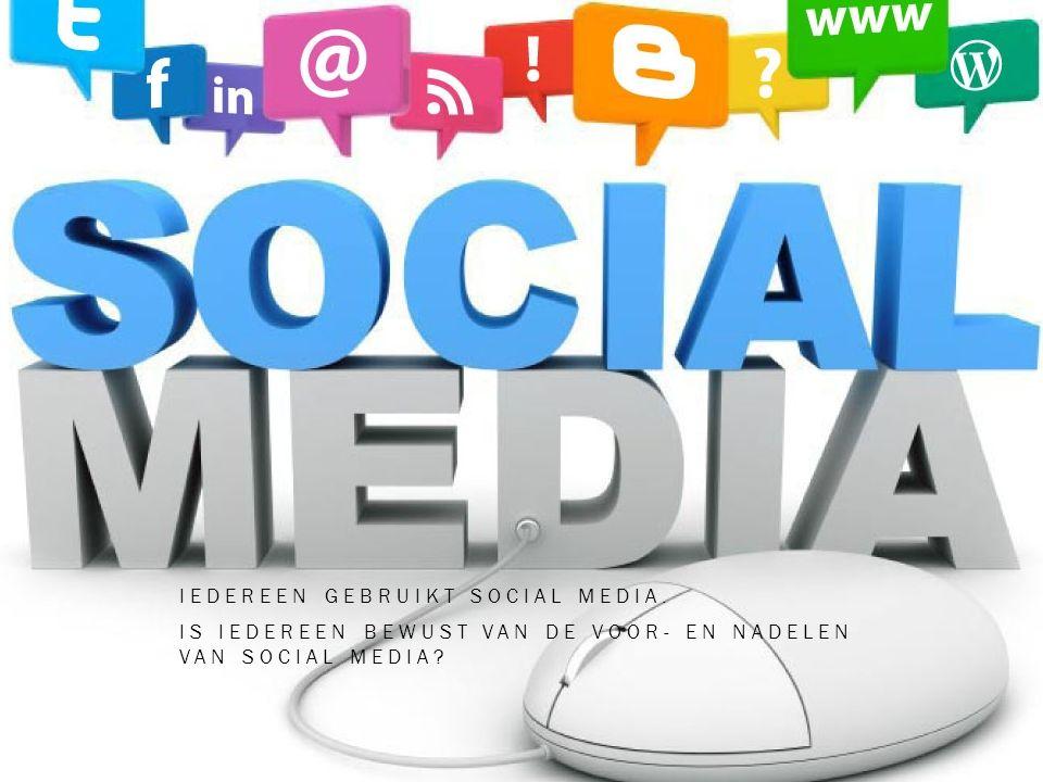 Iedereen gebruikt social media.