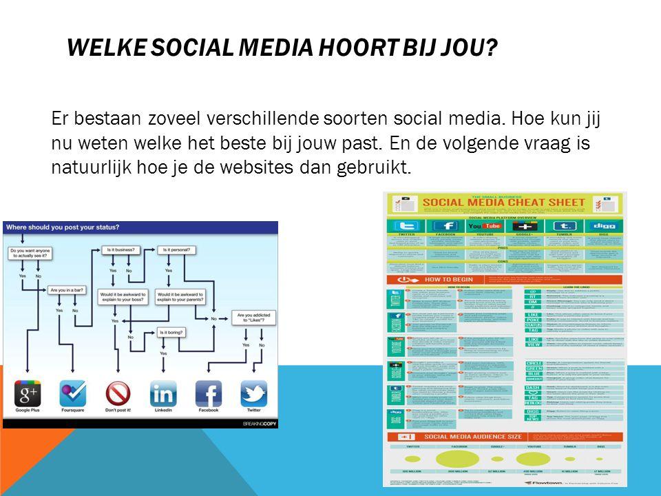 Welke social media hoort bij jou