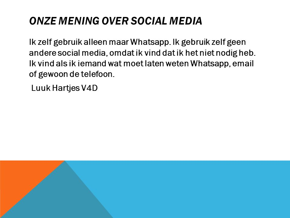 Onze mening over social media