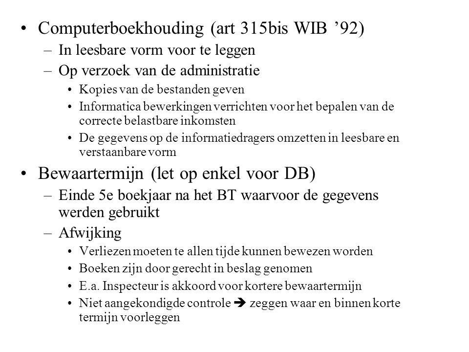 Computerboekhouding (art 315bis WIB '92)