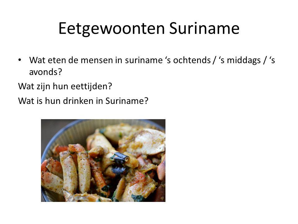 Eetgewoonten Suriname