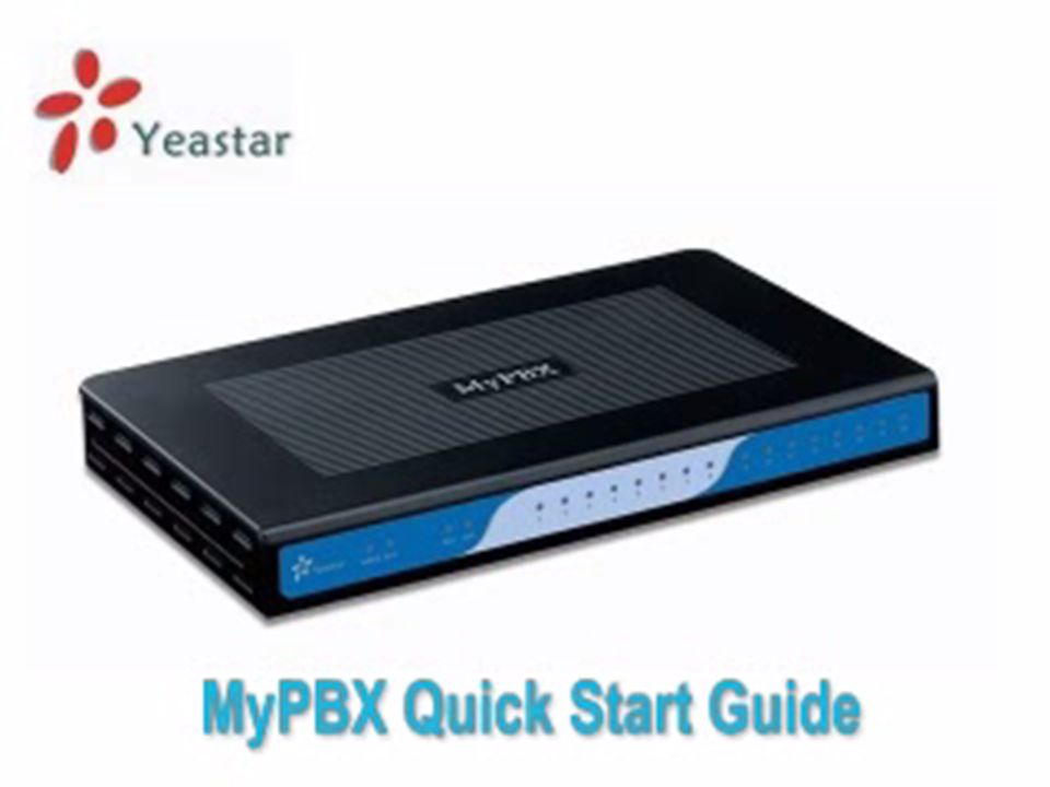 MyPBX quick start guide